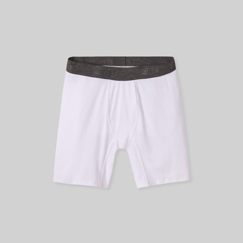 Second Image: Supportive Modal Boxer Brief Lahgo Sleepwear Supportive Modal Boxer Brief - #White