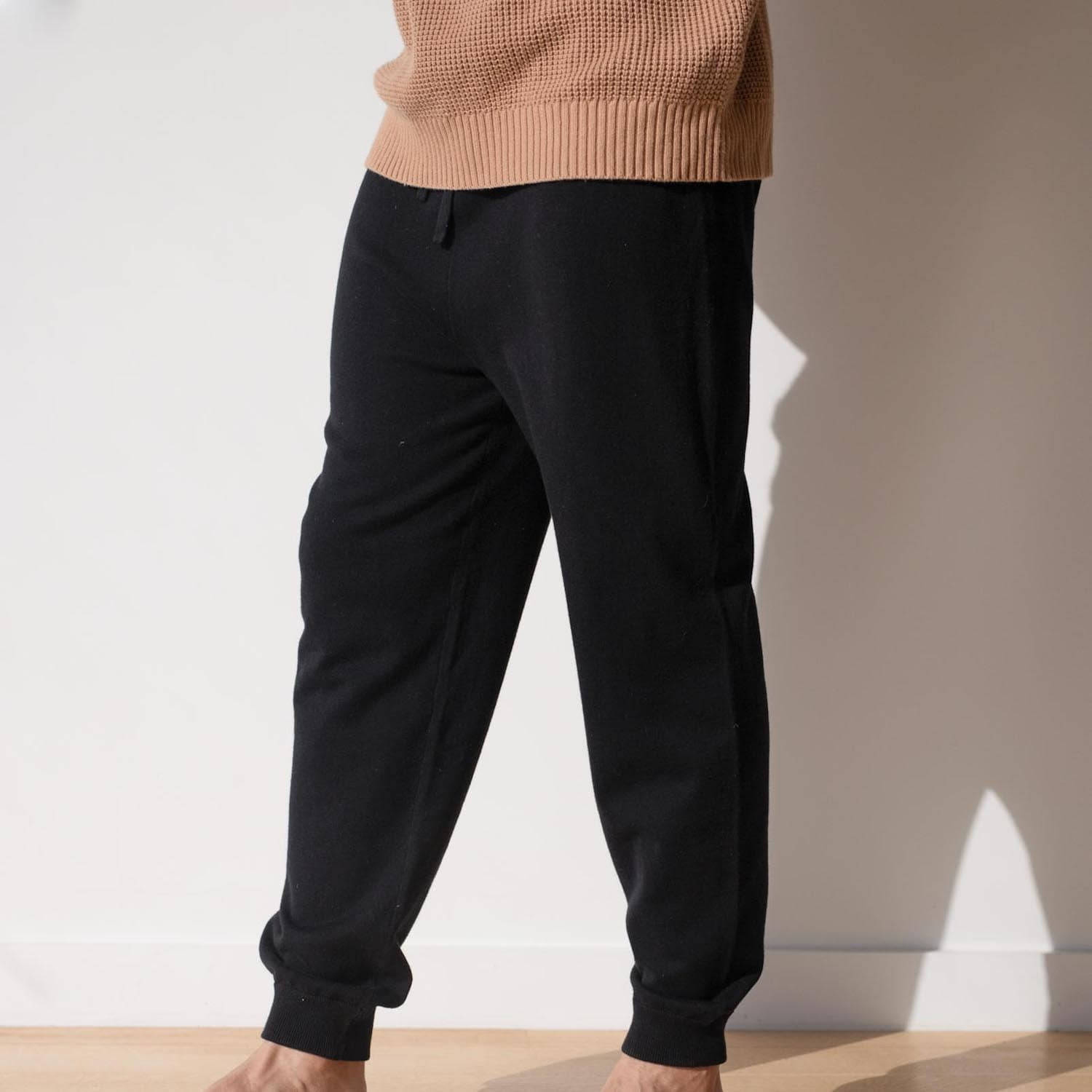 Lahgo Sleepwear Cotton Silk Jogger - #Black