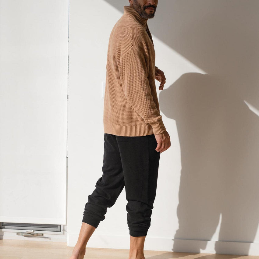Main Image: Cotton Silk Jogger Black / S