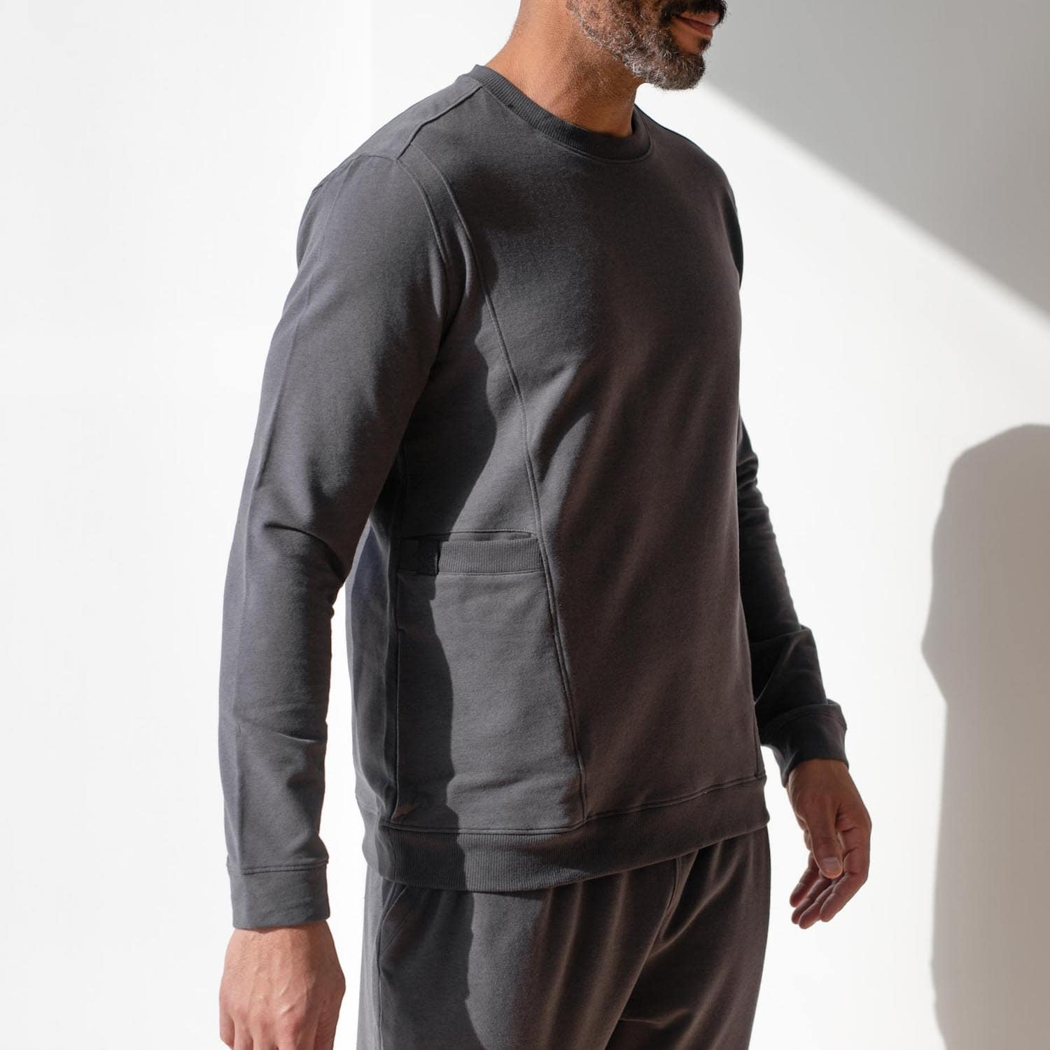 Lahgo Sleepwear Dreamy Wool Fleece Sweatshirt - #Eclipse