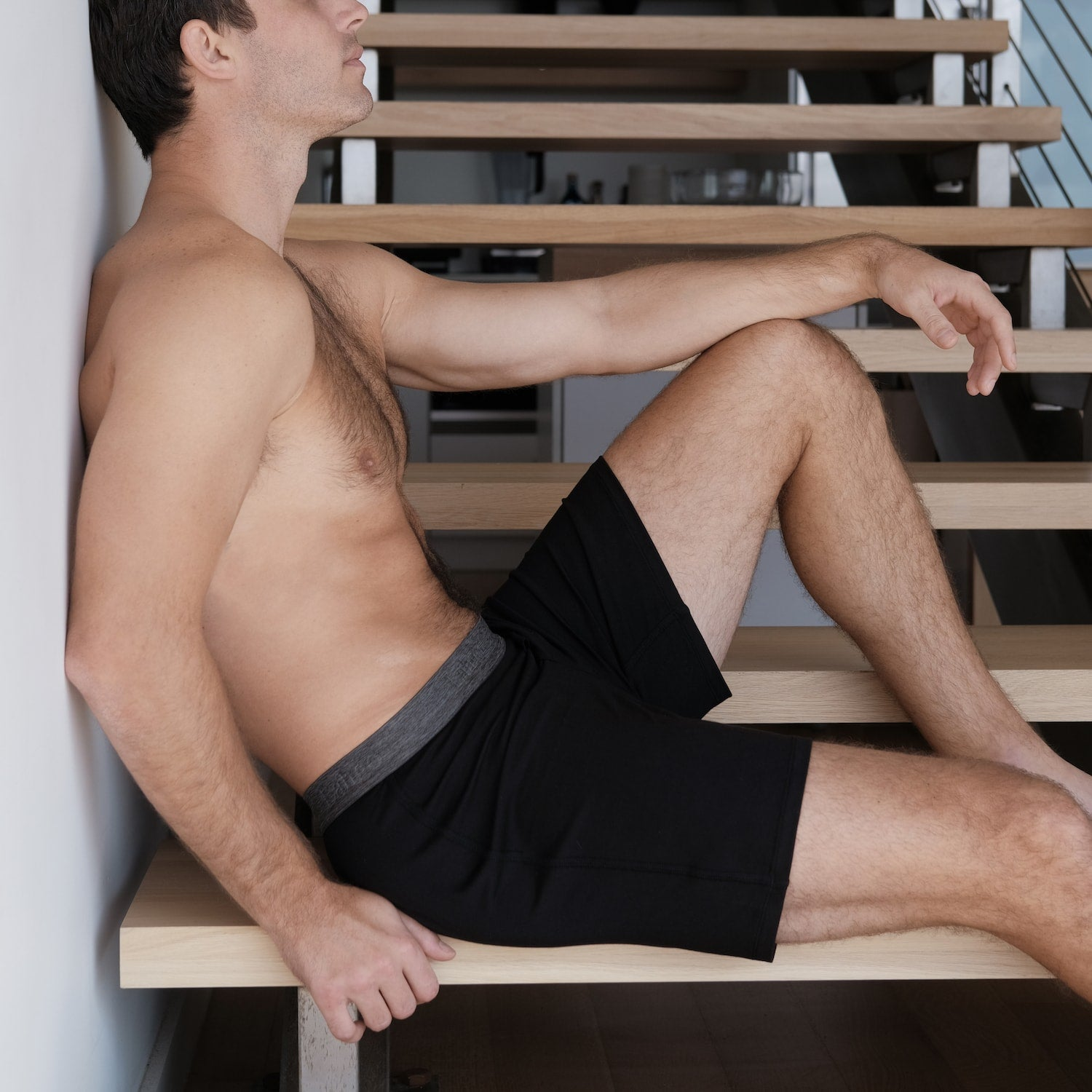 Lahgo Sleepwear Supportive Modal Boxer - #Black
