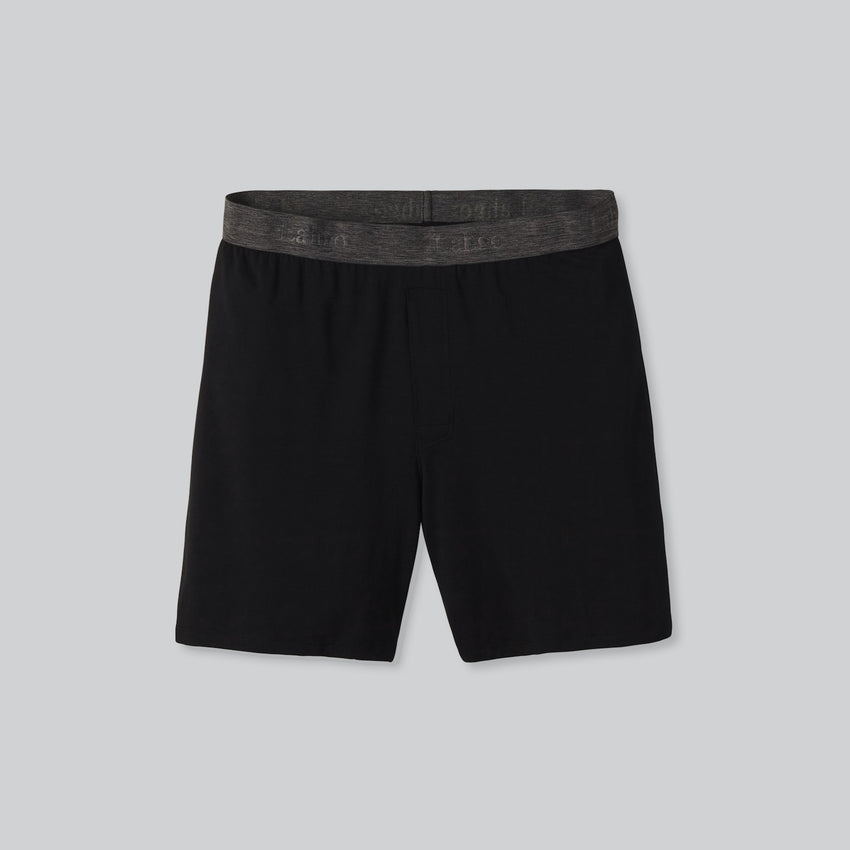 Second Image: Lahgo Sleepwear Supportive Modal Boxer - #Black