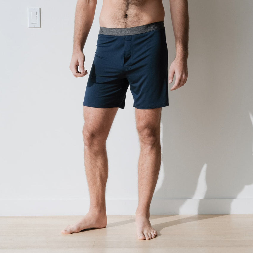 Second Image: Supportive Modal Boxer Lahgo Sleepwear Supportive Modal Boxer - #Deep Night