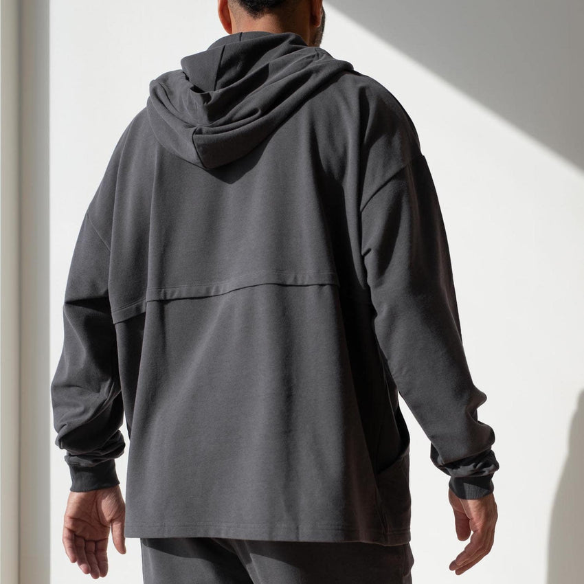 Second Image: Lahgo Sleepwear Dreamy Wool Fleece Oversized Hoodie - #Eclipse