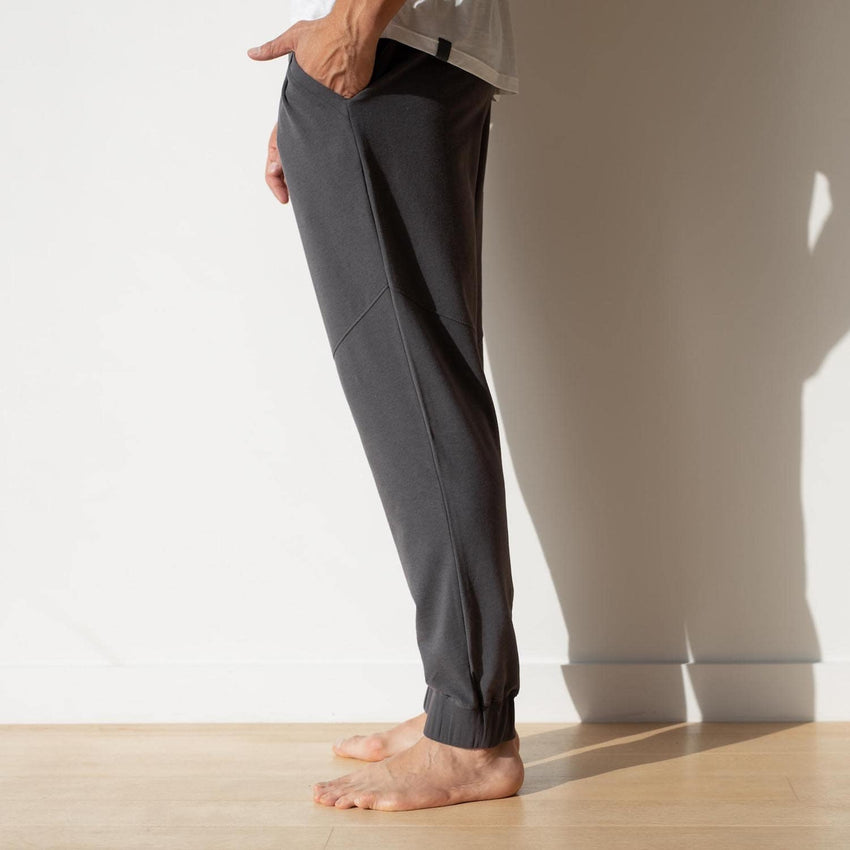 Second Image: Dreamy Wool Fleece Pant Lahgo Sleepwear Dreamy Wool Fleece Pant - #Eclipse
