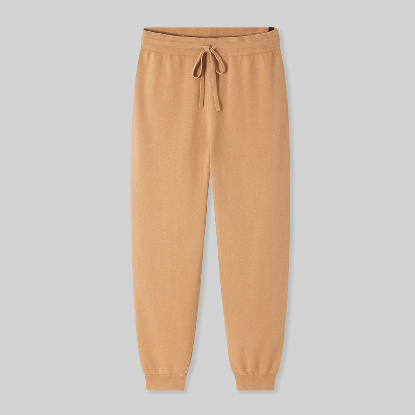 Second Image: Cotton Silk Jogger Lahgo Sleepwear Cotton Silk Jogger - #Ginger