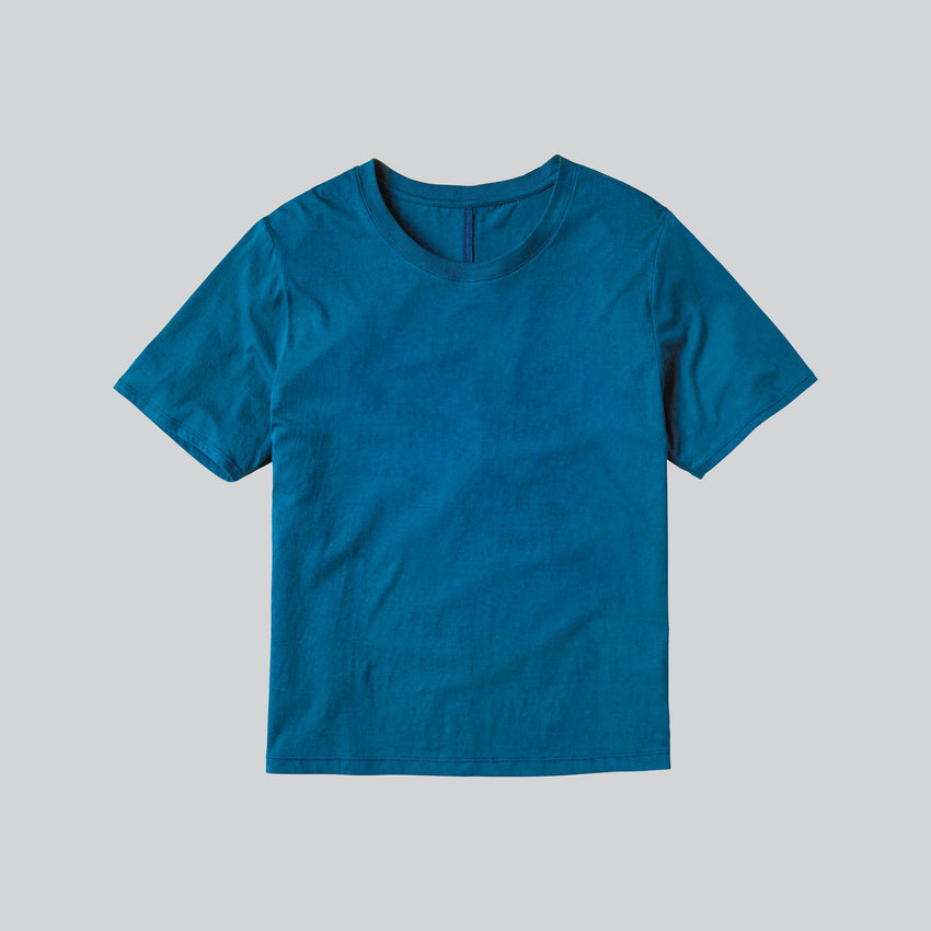 Second Image: Organic Pima Short Sleeve Tee Lahgo Sleepwear Organic Pima Short Sleeve Tee - #Lake