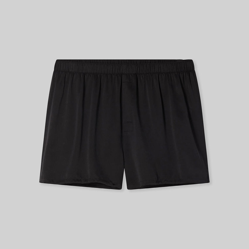 Second Image: Lahgo Sleepwear Washable Boxer - #Black