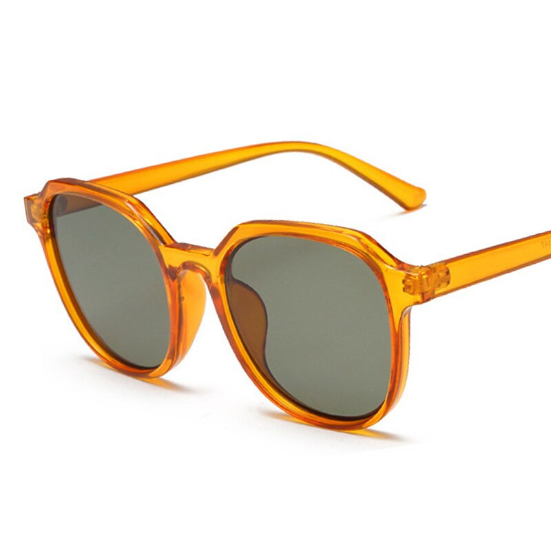 Ins Popular Candy Color Round Sunglasses Women Brand Designer Retro Orange Shades Men Sun Glasses UV400