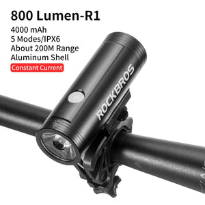 ROCKBROS Bike Light Rainproof USB Rechargeable LED 2000mAh MTB Front Lamp Headlight Aluminum Ultralight Flashlight Bicycle Light