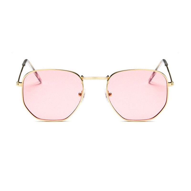 RBRARE Metal Square Small Frame Sunglasses Men Classic Vintage Colorful Ocean Film Pink Mirror Oculos Shopping Women Sunglasses