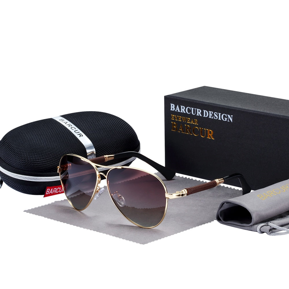BARCUR High Quality TR90 Sunglasses Polarized