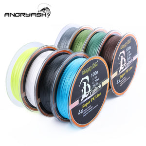 Diominate PE Line 4 Strands Braided 100m/109yds Super Strong Fishing Line 10LB-80LB Army Green