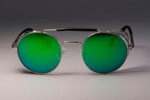 Retro Round Metal Steampunk Sunglasses