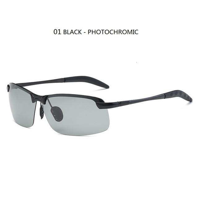 Photochromic Sunglasses Men Polarized Driving Chameleon Glasses