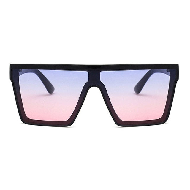 Vintage Square Sunglasses Woman Siamese Oversized