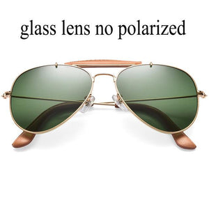 58mm pilot miroir glasses UV400