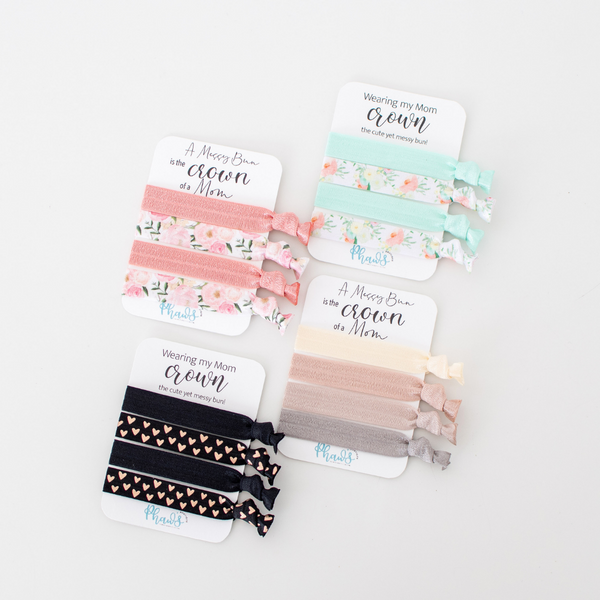 MESSY BUN COLLECTION | Fun Motivational Cards Hair Tie Set