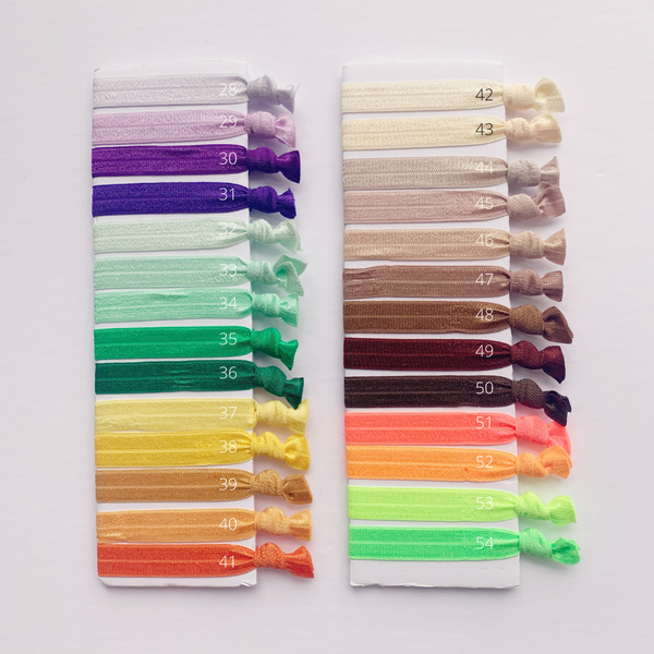 Solid Colour Hair Tie Pack