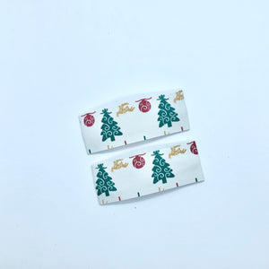 Christmas Tree Print | Faux Leather Snap Clips