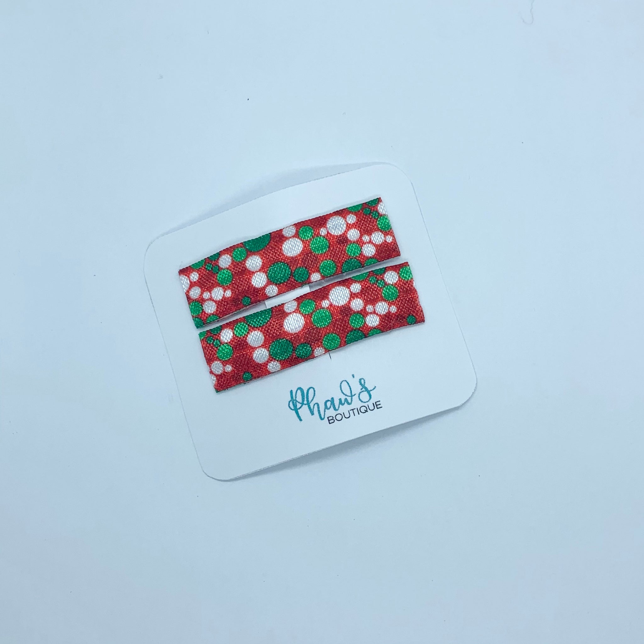 Christmas Bubbles Snap Clips - Size Large