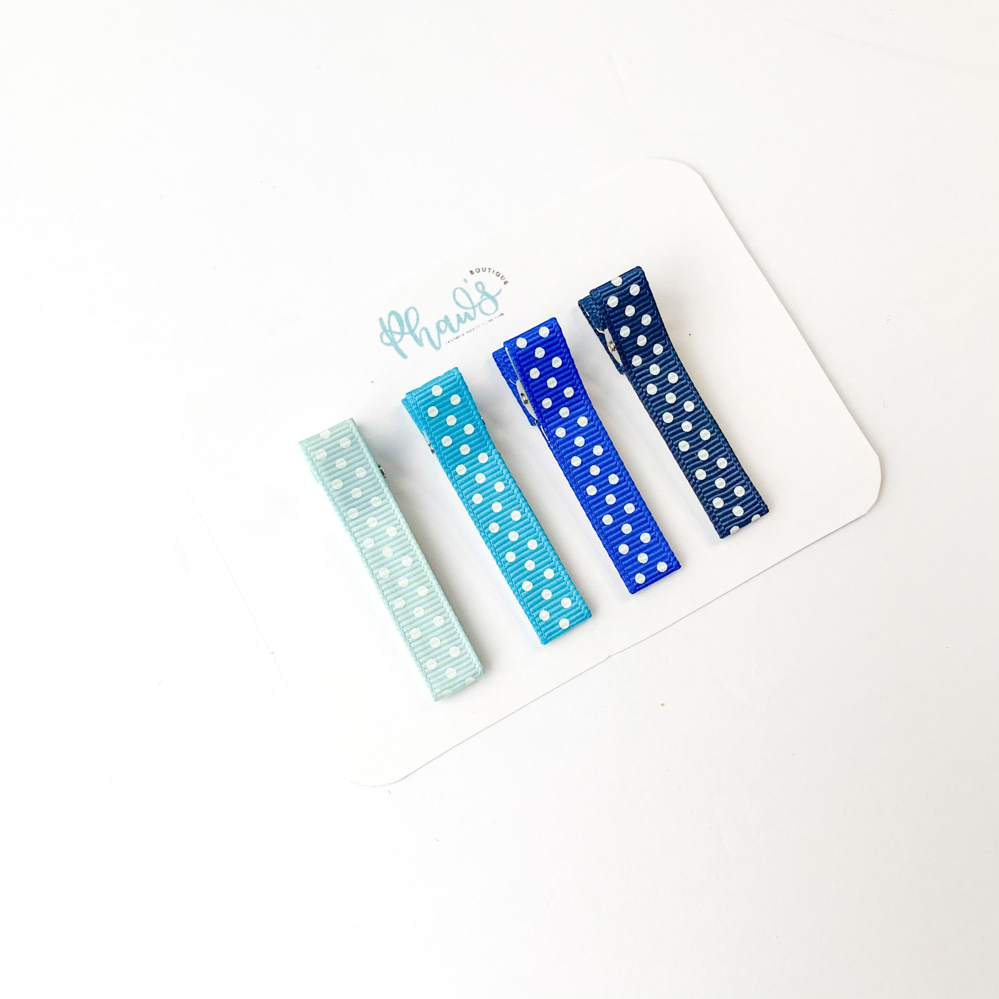 Polka Dot Set of 4 | Alligator Clips