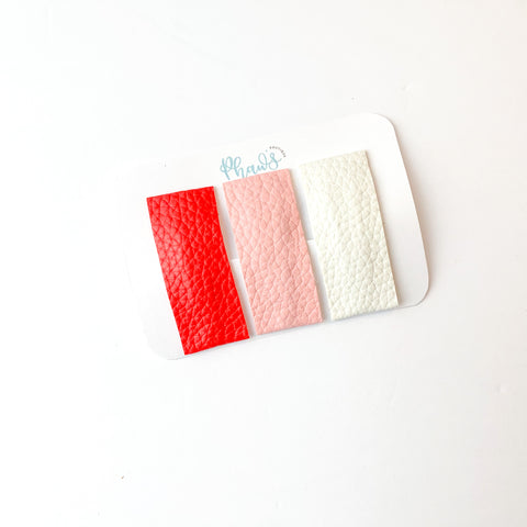Valentines Trio | Faux Leather Snap Clips