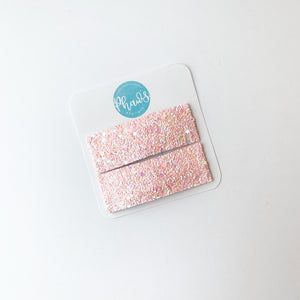Pink Sparkle | Faux Leather Snap Clips