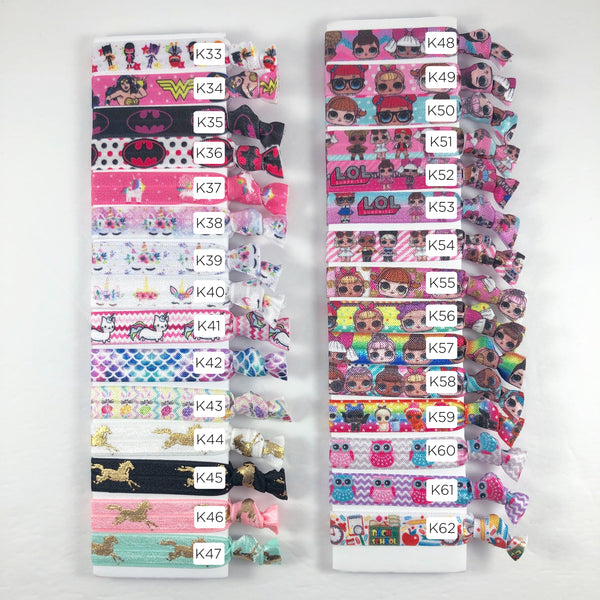 Kid Pattern Inspired Hair Tie Pack
