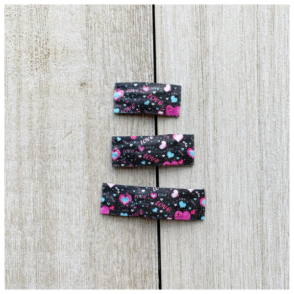 Spring Plaid Pattern Snap Clips | Size Medium