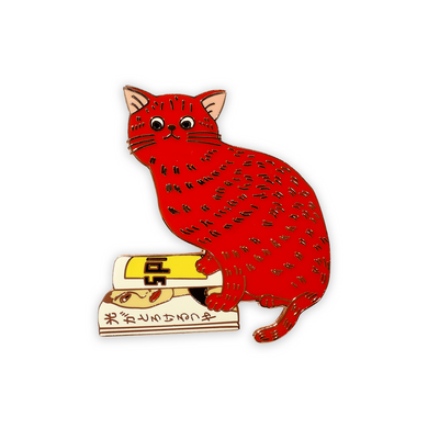 Red Cat and Magazine