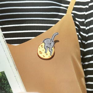 CAT ON THE MOON PIN