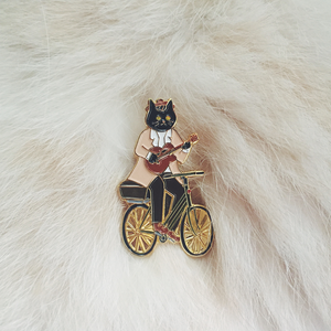 Mister black cat on the bike by Kazy