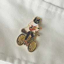 Load image into Gallery viewer, Mister black cat on the bike by Kazy