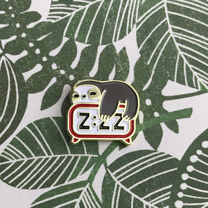 Sloth Alarm Pin