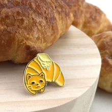 Load image into Gallery viewer, Cat Croissant Pin