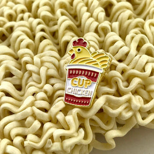 Chicken Cup Noodle Pin