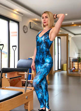 Load image into Gallery viewer, Blue Galaxy Printed Jumpsuit