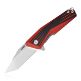 "KUBEY KU145 Folding Pocket Knives 2.68"" Tanto D2 Steel With G10 Handle,Ceramic Ball Bearing Flipper"