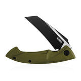 "Anteater Liner Lock Folding Knife OD Green G10 Handle (3.5"" Ti Coated D2) KU212F"