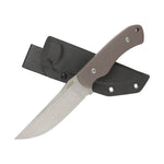 "KUBEY KU240 10.12""  Full Tang Fixed Blade Knife 5.2"" Stonewashed D2 Blade, 4.9"" G10 Handle"