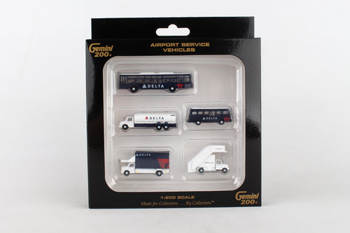 G2DAL720GEMINI200 DELTA GROUND SERVICE EQUIPMENT TRUCKS 1/200 - SkyMarks Models