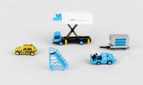 JC2KLM024 JCWINGS KLM GSE SET#4 CATERING TK,TAXI,TUG/DOLL,STAIRS 1/200 - SkyMarks Models