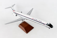 Load image into Gallery viewer, SKR8602  SKYMARKS DELTA MD-80 1/100 WIDGET LIVERY W/WOOD STAND & GEAR - SkyMarks Models