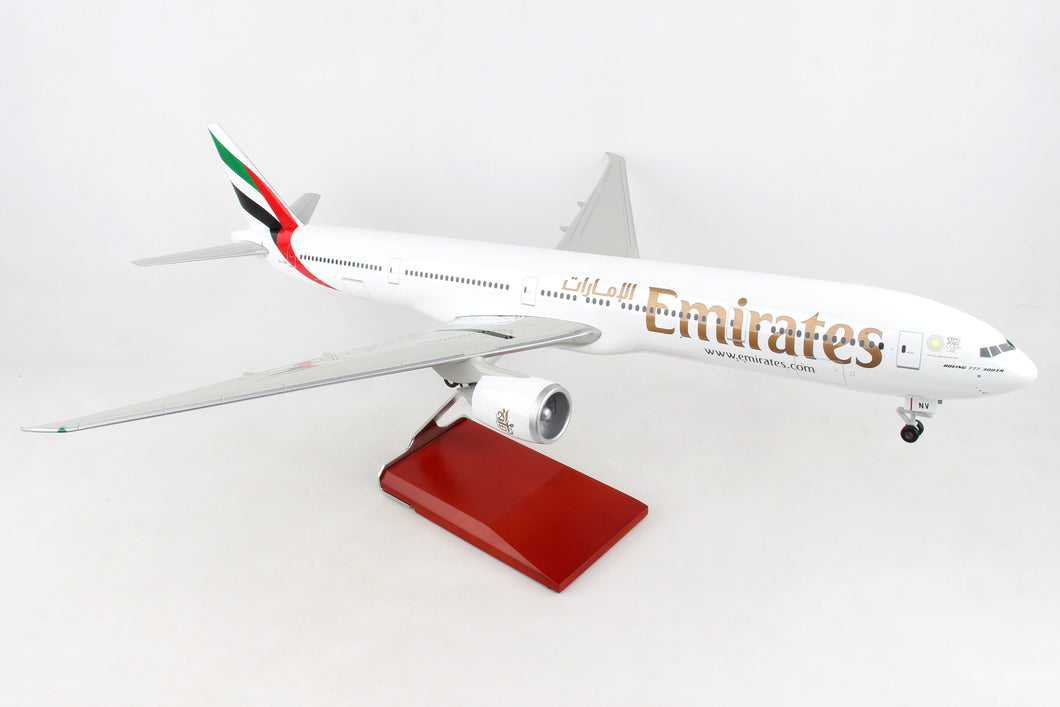 SKR9402 SKYMARKS EMIRATES 777-300ER EXPO 1/100 W/WOOD STAND & GEAR