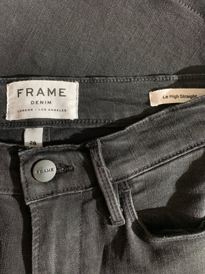 FRAME Le High Straight Studded Black - Size 28