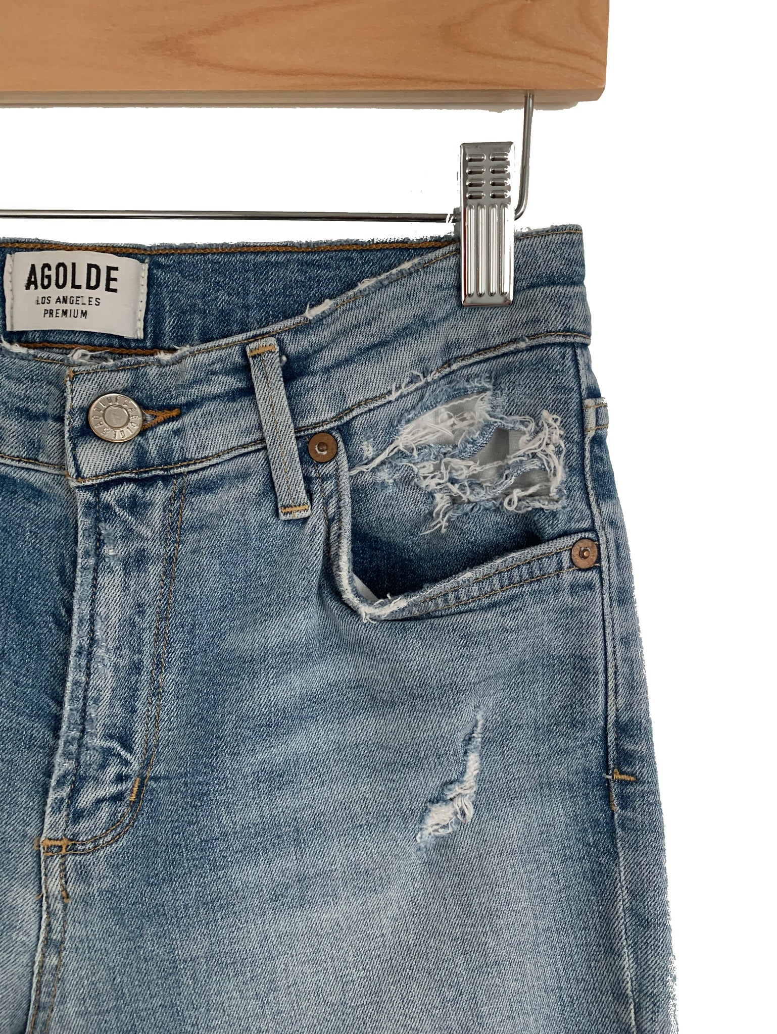 AGOLDE Sophie Mid Rise Skinny Crop - Size 25