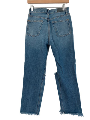 Carmar Distressed High Rise Jean - Size 27