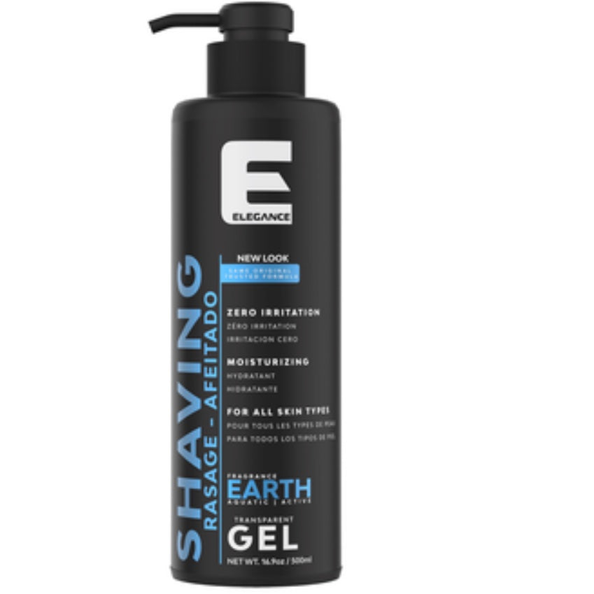 Elegance Transparent Shaving Gel - Earth