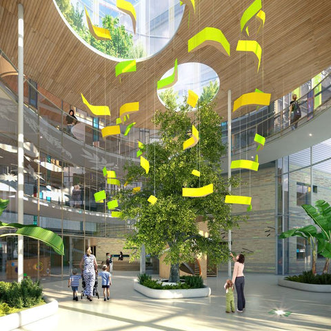 the light yard, benefits of green living walls for hospitals